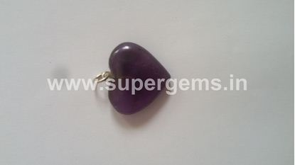 Picture of amethyst heart pendant