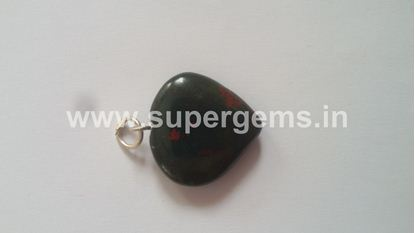 Picture of blood stone heart pendant