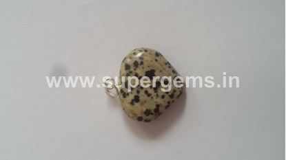 Picture of dalmation jesper heart pendant