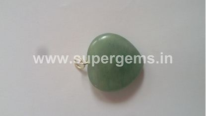 Picture of green aventurine heart pendant