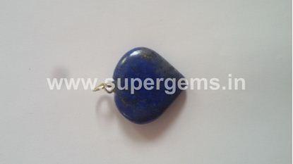 Picture of lapis lazuli heart pendant