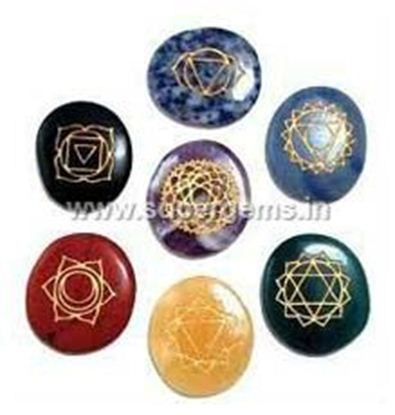 Picture of 7 chakra carvin oval set