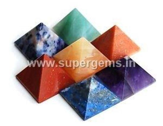 Picture of 7 chakra pyramid set