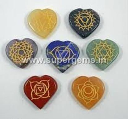 Picture of 7 chakra reiki heart shape