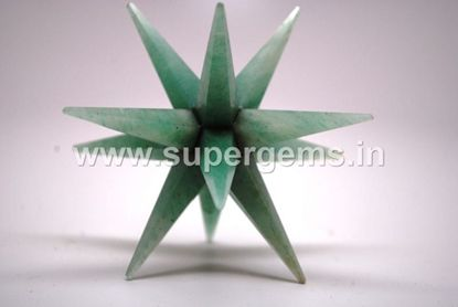 Picture of green aventurine 12 point bonded star