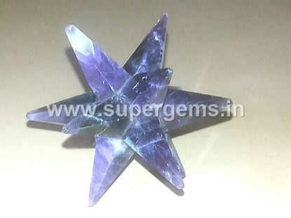 Picture of amethyst 12 point bonded star