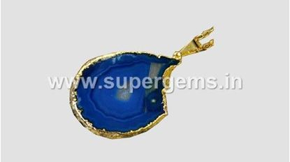 Picture of gold electro plated slice pendant