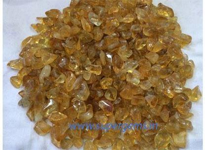 Picture of citrine tumble stone
