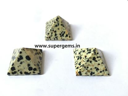 Picture of dalmation jasper pyramid
