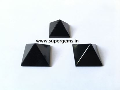 Picture of black agate pyramid