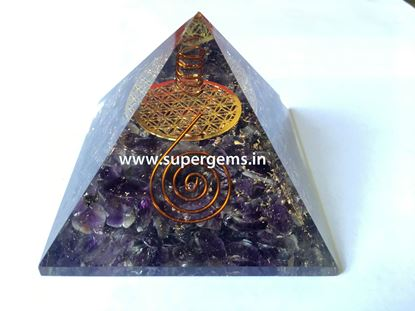 Picture of amethyst flower of life orgone pyramid