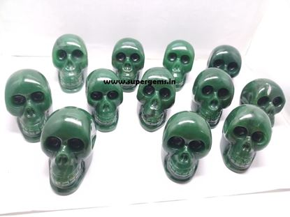 Picture of green jade skull 2 inch