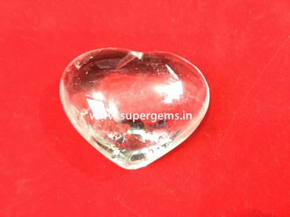 Picture of clear quartz puffy heart
