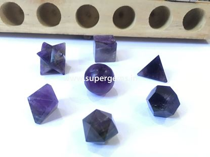 Picture of 7 piece amethyst geomatry set.
