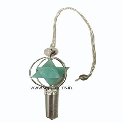 Picture of amazonite merkaba  3 piece pendulum
