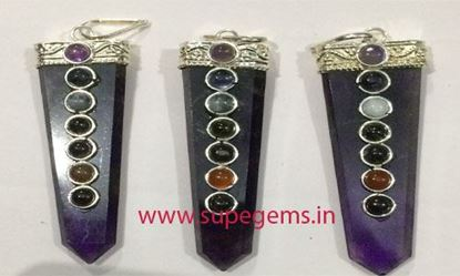 Picture of AMETHYST CHAKRA FLAT PENCIL PENDNAT
