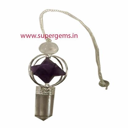 Picture of amethyst merkaba  3 piece pendulum