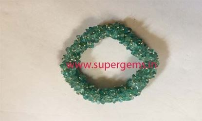 Picture of aquamarine chips art bracelet