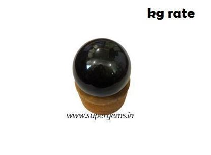 Picture of black agate sphere