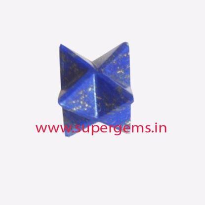 Picture of Lapis lazuli merkaba star
