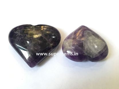 Picture of amethyst puffy heart