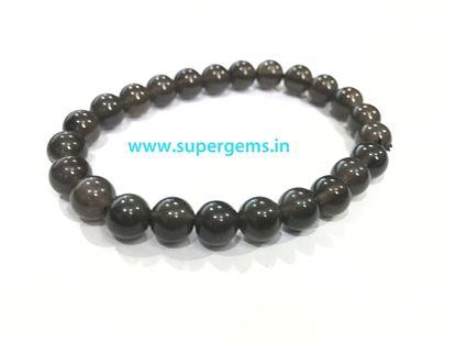 Picture of black obsidian bracelet