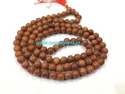 Picture of red goldstone mala
