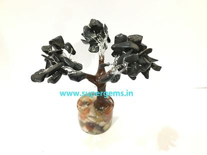 Picture of black agate orgonite base small tree