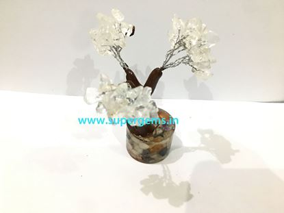 Picture of clear quartz orgonite base small tree
