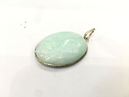 Picture of amazonite oval pendnat