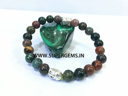 Picture of blood stone buddha bracelet