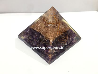 Picture of amethyst quartz merkaba point orgone pyramid