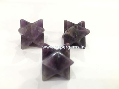 Picture of amethyst merkaba star