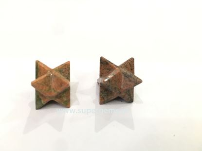 Picture of unakite merkaba star
